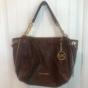 Michael Kors cognac leather handbag purse